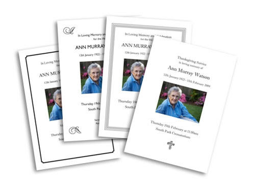 Order of Services - Funeral Printing